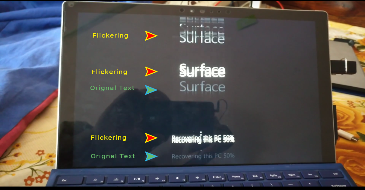 Flickergate - Surface Pro Screen Flickering and Shaking
